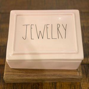 "RAE DUNN ""jewelry"" ceramic box"